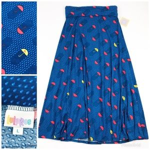 NEW LuLaRoe Unicorn Umbrella Maxi Skirt Large
